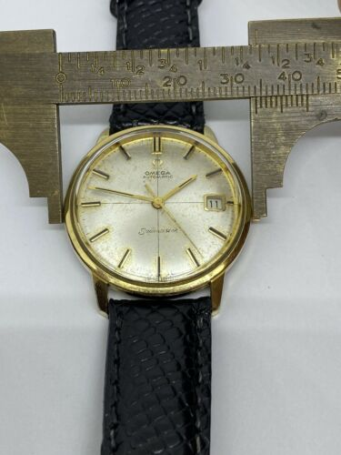 Vintage Omega Seamaster Date Cross Dial 166.001 Cal 562 34mm