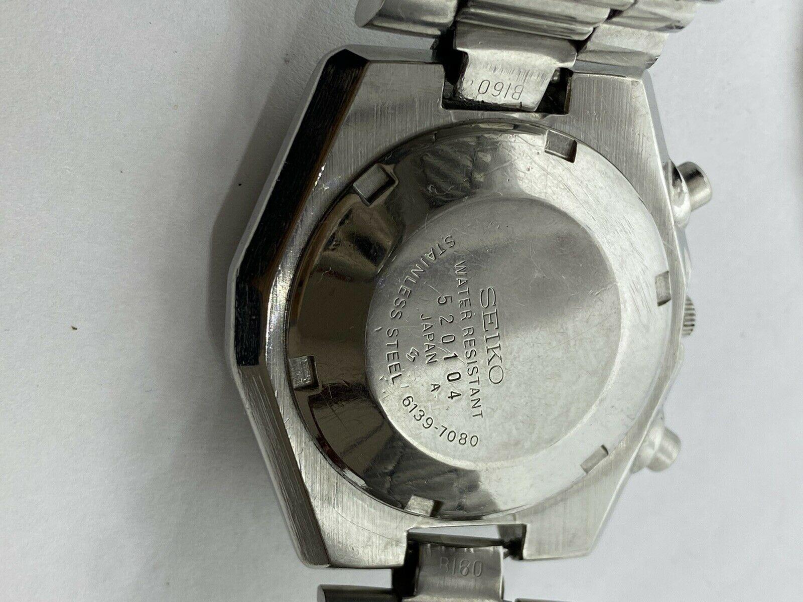 Vintage Seiko Octagon Automatic Chronograph 6139-7080